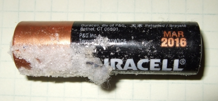 beware of duracell battery leakage dallas makerspace talk. Black Bedroom Furniture Sets. Home Design Ideas