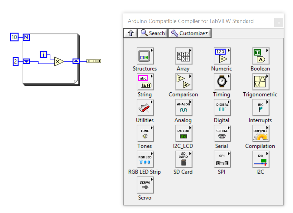 use labview to program arduino  - electronics