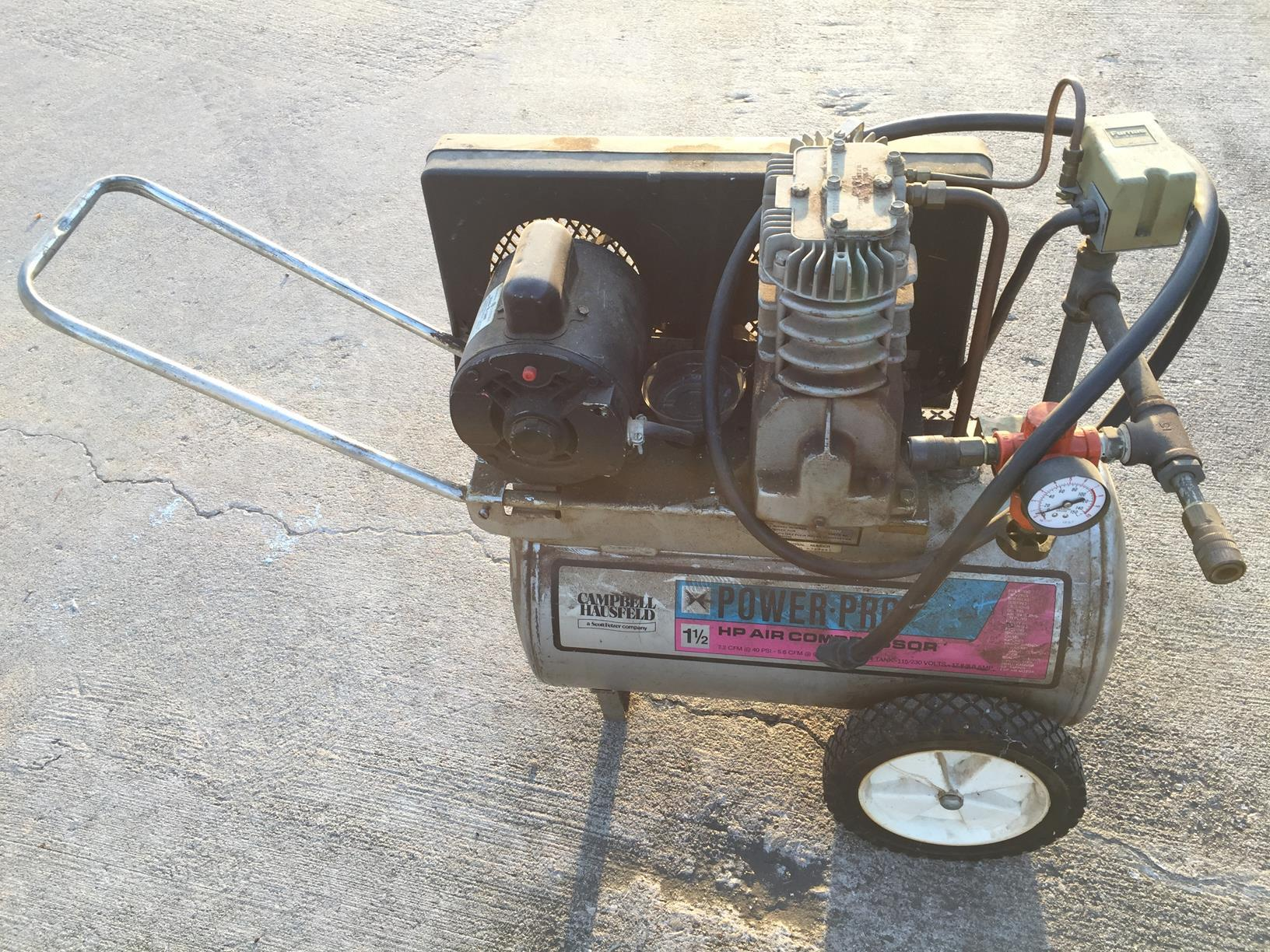 Older Campbell Hausfeld Air Compressor : For sale air compressor obo makertrade