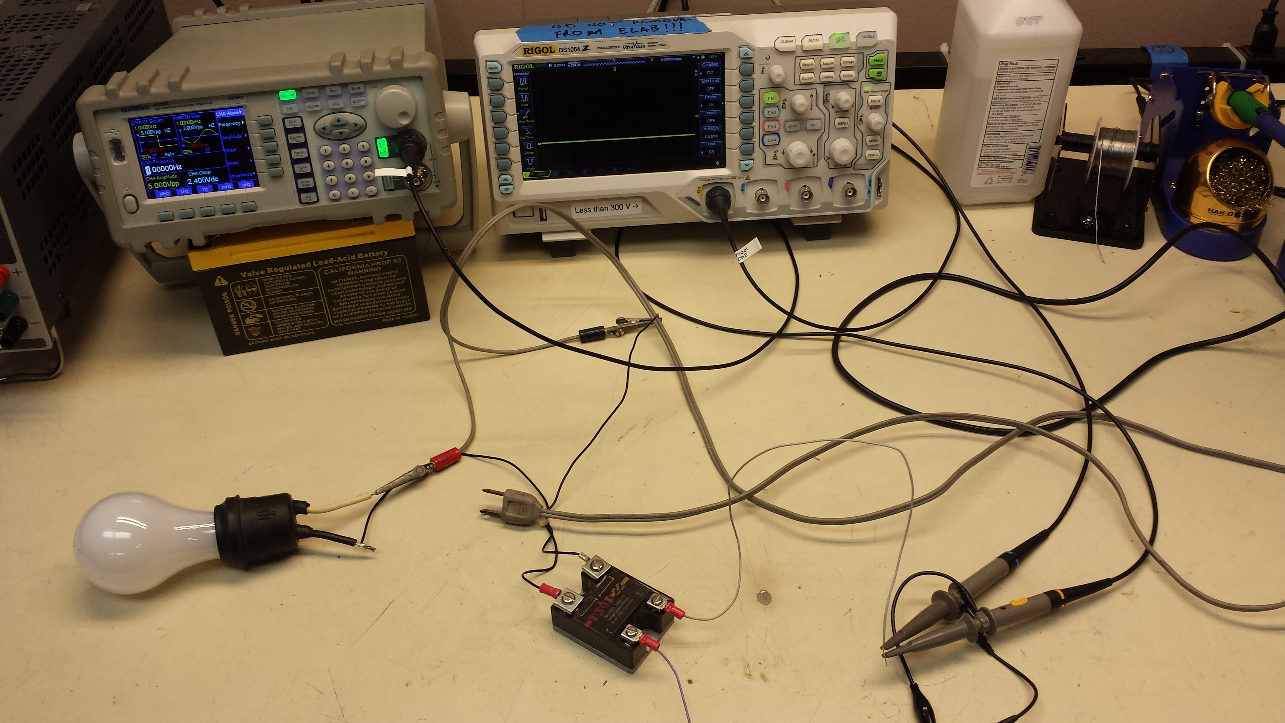 Various Projects In E Lab Electronics Dallas Makerspace Talk Solid State Relay Project Ssr Test Replace Sig Gen W Arduino And Control Up To 1kw Ac Qed